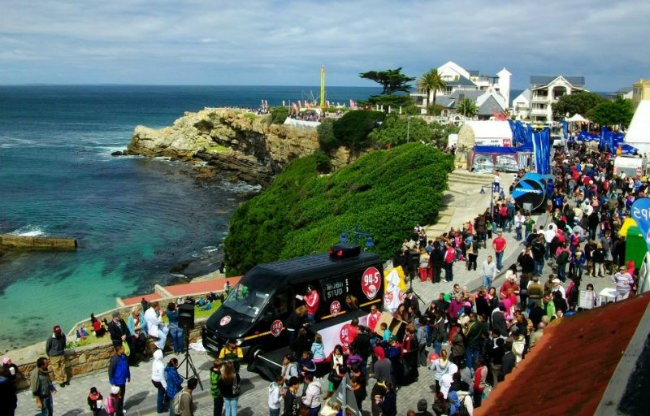 Crowds at hermanus festival