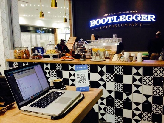 Inside Bootlegger Coffee Company